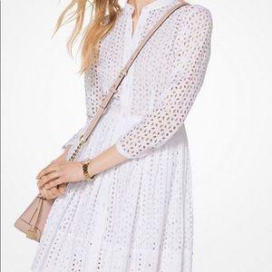 Michael Kors white eyelet daisy dress